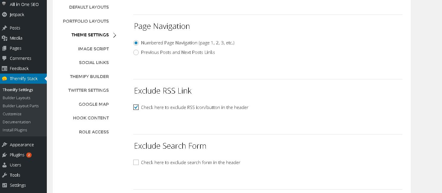 オシャレな海外のWordPressテーマ'Stack'カスタマイズ(RSS、検索フォームの表示/非表示)